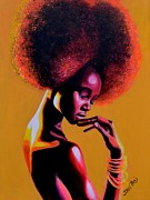 Neon Effects Painting Originals - Ataui Deng by Shirl Theis