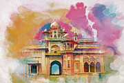 India Painting Metal Prints - Atchison College Metal Print by Catf