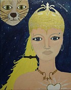 Warrior Goddess Paintings - Athena Warrior  by Marie Tucker