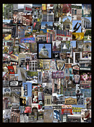 Athens Collage Print by Sally Ross