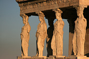 Caryatids Framed Prints - Athens - The Caryatids Framed Print by Olivier Ghettem