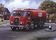 1960 Painting Framed Prints - Atkinson tanker Framed Print by Mike  Jeffries