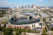 Baseball Stadiums Prints - Atlanta Print by Bill Cobb
