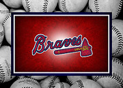 Baseballs Posters - Atlanta Braves Poster by Joe Hamilton