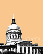 Pen  Prints - Atlanta Capital Building Print by DB Artist