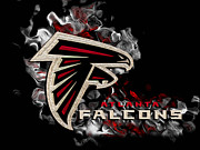 National Football League Digital Art Framed Prints - Atlanta Falcons Framed Print by Jack Zulli