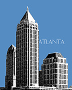 Cities Digital Art Metal Prints - Atlanta Skyline 1 Metal Print by Dean Caminiti