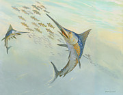 ACE Coinage painting by Michael Rothman - Atlantic Blue Marlin