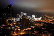 Debbie Metal Prints - Atlantic City at Night Metal Print by Deborah  Crew-Johnson