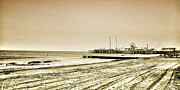 Pier Digital Art - Atlantic City Beach in Sepia by Bill Cannon