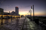 Jersey Shore Digital Art Posters - Atlantic City Boardwalk in the Morning Poster by Bill Cannon