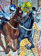 Kentucky Derby Mixed Media Prints - Atlantic City Downs Print by Michael Lee