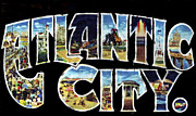 Atlantic City Posters - Atlantic City Poster Design Poster by World Art Prints And Designs