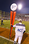Sidelines Framed Prints - Atlantic Coast Conference Football Linesman Framed Print by Jason O Watson