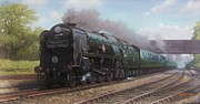 Steam Train Paintings - Atlantic Coast Express by Mike  Jeffries