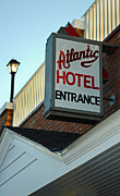 Local Food Posters - Atlantic Hotel Poster by Skip Willits