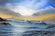 Pathways Painting Originals - Atlantic Sunrise by Elizabeth Williams