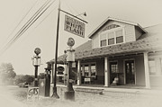 Pumps Digital Art Prints - Atlantic White Flash Gas Station Print by Bill Cannon
