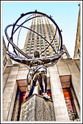 Skates Prints - Atlas statue in New York City Print by Geri Scull