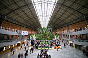 Glazed Photos - Atocha Railway Station Interior in Madrid by Artur Bogacki