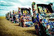 Cadillac Ranch Photos - Atomic Cadillacs by Sonja Quintero