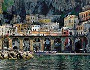 Campania Region Framed Prints - Atrani. Amalfi Coast Framed Print by Jennie Breeze