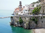 Mediterranean Sea Prints - Atrani on Amalfi Coast Print by Marilyn Dunlap