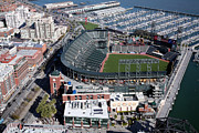 Baseball Stadiums Framed Prints - ATT Park in Downtown San Francisco California Framed Print by Bill Cobb