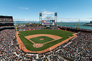 Ballfield Framed Prints - ATT Park on Mothers Day Framed Print by Mark Whitt