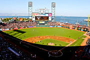 Baseball Park Framed Prints - ATT Park San Francisco  Framed Print by John McGraw