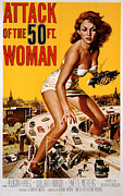 Movie Mixed Media - Attack of the 50 Foot Women 1958 by Presented By American Classic Art