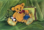Toys Pastels - Attic treasures by Audrey Russill