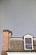 Chimneys Posters - Attic Window Poster by Margie Hurwich