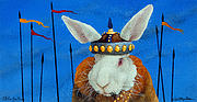Bunny Paintings - Attila the Bun.. by Will Bullas