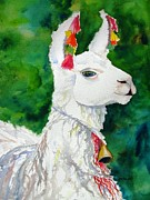 Peruvian Llama Prints - Attitude Print by Carlin Blahnik