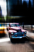 Pink Cadillac Prints - attracting curves III2 Print by Hannes Cmarits