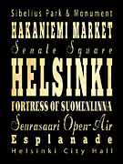 Helsinki Finland Digital Art - Attraction and Famous Places of  Helsinki Finland by Joy House Studio