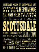 Scottsdale Digital Art - Attraction and Famous Places of Scottsdale Georgia by Joy House Studio
