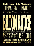Uss Kidd Framed Prints - Attractions and Famous Places of Baton Rouge Louisiana Framed Print by Joy House Studio