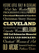 Bus Roll Art - Attractions and Famous Places of Cleveland Ohio by Joy House Studio
