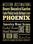 Bus Roll Art - Attractions and Famous Places of Phoenix Arizona  by Joy House Studio
