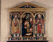 Child Jesus Photos - Attributed Bugatto Zanetto, Triptych by Everett