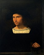Young Man Prints - Attributed Busi Giovanni Detto Cariani Print by Everett