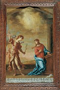 Annunciation Framed Prints - Attributed Guardi Francesco, Trinity Framed Print by Everett