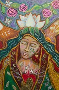 Sacred Feminine Paintings - Attunement by Havi Mandell