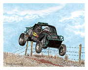 Vehicles Painting Framed Prints - ATV Madness Offroad Framed Print by Jack Pumphrey