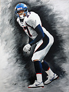 Denver Broncos Drawings Prints - Atwater  Print by Don Medina