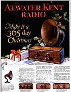 Featured Metal Prints - Atwater Kent Radio 1920s Usa Radios Metal Print by The Advertising Archives