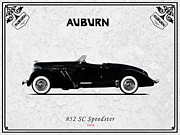 Auburn Framed Prints - Auburn Speedster 1936 Framed Print by Mark Rogan