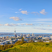 Auckland Framed Prints - Auckland from Mount Eden Framed Print by Colin and Linda McKie